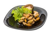 Marinated mussels — Stock Photo