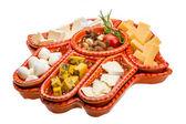 Variety cheese assortment — Stock Photo