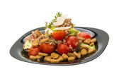 Salad with tuna and tomato — Стоковое фото