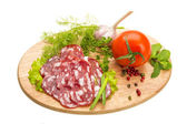 Fresh ripe salami — Stockfoto