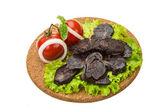 Salchicha de carne de caballo — Foto de Stock