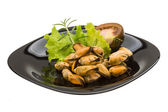Marinated mussels — Foto de Stock