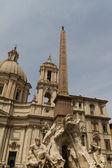 聖 agone 広場ナヴォーナ, ローマ, イタリアの近隣 — ストック写真