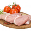 Stock Photo: Raw pork steak
