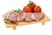 Raw pork steak — Stock Photo