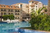 Beach hotel in Turkey — Stock Photo