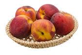 Bright ripe peaches — Stock Photo