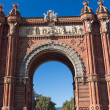 BarcelonArch of Triumph — Stock Photo #37801405