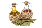 Vinegar and oil — Stock Photo