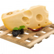 Maasdam cheese — Stock Photo