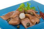 Sliced marinated herring — Stock Photo