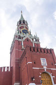 Spasskaya tower on Red Square — Stock Photo