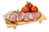 Carne de cerdo cruda — Foto de Stock