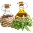 Stock Photo: Vinegar and oil
