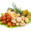 Foto de Stock  : Marinated vegetables
