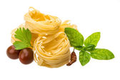 Raw tagliatelle — Stock Photo