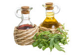 Vinegar and oil — Stock Photo