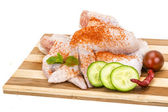 Raw chicken wings — Stockfoto