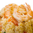 Stock Photo: Fried rice with shrimps