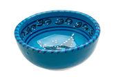 Blue empty bowl — Stock Photo