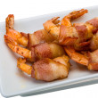 Shrimps in bacon — Stock Photo #39900835