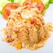 Fried rice with shrimps — Stock Photo