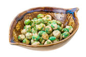 Crispy green peas — Stock Photo