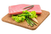 Tuna raw steak — 图库照片