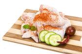 Skrzydełka z kurczaka surowego — Zdjęcie stockowe