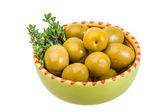 Green gigant olives — Stock Photo
