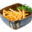 图库照片: French fries on white background