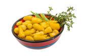 žlutá marinovaná paprika — Stock fotografie
