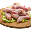 Raw chicken neck — Foto de stock #41431477