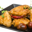 Stockfoto: Grilled chicken wings
