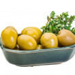 Stockfoto: Green gigant olives