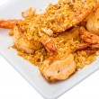 Fried shrimps with garlic — Stock fotografie #41473963