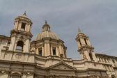 Saint agnese i agone i piazza navona, rom, italien — Stockfoto