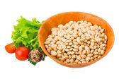 White raw beans — Zdjęcie stockowe