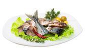 Maquereaux avec salade et thym — Photo