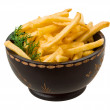French fries on white background — Stock Photo #41645293