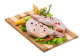Raw rabbit meat — Stock Photo