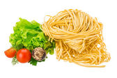 Raw egg noodles — Stock Photo