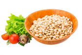 White raw beans — 图库照片