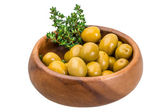 Green gigant olives — Stockfoto
