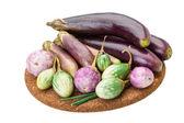 Asian egg-plant assortie — Stock Photo