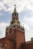 Torre spasskaya na praça vermelha — Foto Stock