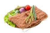 Rå risnudlar — Stockfoto