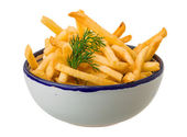 French fries on white background — ストック写真
