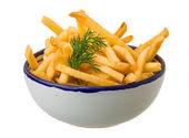 Patatine fritte su sfondo bianco — Foto Stock