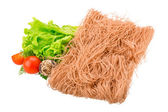 Raw rice noodles — Stock Photo